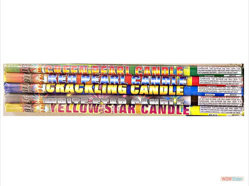 5 PACK ASSORTED CANDLES